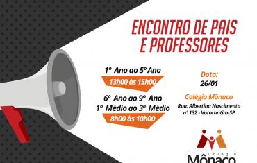 ENCONTRO DE PAIS E PROFESSORES